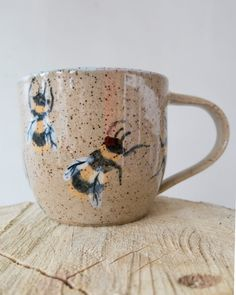 Handmade Bee Mug by xiaocrafted on Etsy