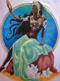 Umbanda Astrológica, Magia, oráculos, Tarô, Rituais, Orixás e Anjos Beautiful Dark Art, Black Love Art, Black Girl Art, Art Girl, Beautiful Scenery, Black Girls, Oshun Goddess, Goddess Art, Orisha