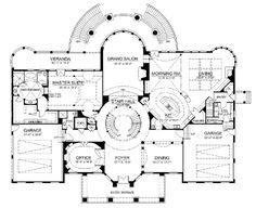 First Floor Plan of Colonial   Greek Revival   House Plan 72138
