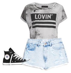 """""""The basic look"""" by yourgirllogan ❤ liked on Polyvore featuring beauty, Religion Clothing, MANGO and Converse"""