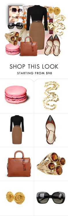 """""""Work day"""" by solbranca ❤ liked on Polyvore featuring Rothko, Fendi, Phase Eight, Nine West, Coach 1941, Chanel, Bottega Veneta and Tory Burch"""