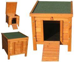 Small Dog House Wooden Pet Kennel Home Garden Indoor Outdoor Cat Den Pig Shelter