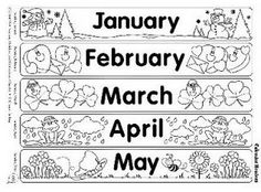 Fichas de Inglés para niños: Months of the year flascards