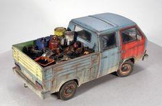 Nice Dragon Wagon, Transporter T3, Weather Models, Rc Rock Crawler, Truck Scales, Day Van, Miniature Cars, Model Cars Kits, Model Maker