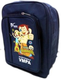 igh quality chota bheem bag. Ideal for kids between 2-7 years of age.   Key Highlights:  Color: Navy blue Compartmens: 2 big, 1 medium and 1 small compartments Comfortable handle with padded and adustable straps Dimensions: 14 * 12 Inches Bottle Carrier - See more at: http://www.theschoolstore.in/Vasundara-Mother-s-Pride-Academy/Champion-Blue-Bag--VMPA-id-394607.html#sthash.5ESCzY49.dpuf