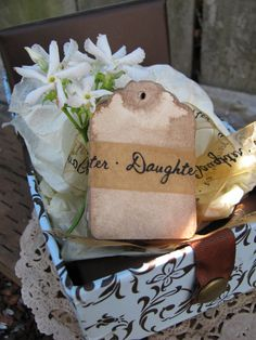 100 SMALL DECORATIVE Tags. Hand Stained. by EternalJournals, $18.00