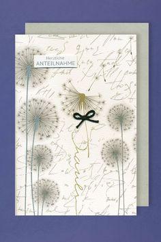 Trauer Grußkarte mit Umschlag schwarze Schleife Pusteblume 11x17cm in Möbel & Wohnen, Feste & Besondere Anlässe, Karten & Schreibwaren   eBay