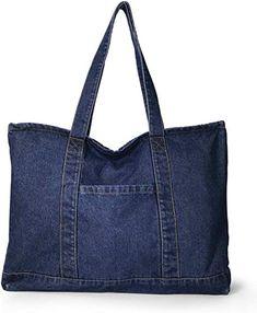 Diy Bags Jeans, Denim Tote Bags, Denim Handbags, Artisanats Denim, Denim Ideas, Denim Crafts, Recycled Denim, Fabric Bags, Cloth Bags