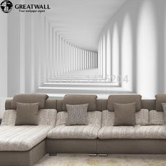 Custom 3D Abstract modern Photo wallpaper murals for living room, three dimensional space mural wall paper