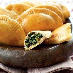 Vegetarian Palestianian Spinach Pies - I would use store-bought pastry or maybe even fill ravioli with this mixture!