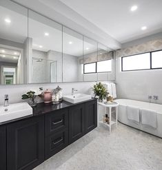 BATHROOM - Villina Hills with Timeless Facade on display at Emerald Hills, Leppington New Home Builders, New Home Designs, Facade, Emerald, Bathrooms, New Homes, House Design, Display, Luxury