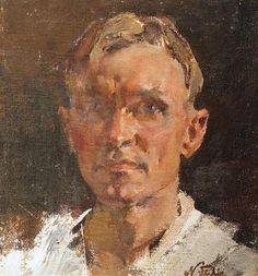 Nicolai Ivanovich Fechin,Self-Portrait oil on canvas...Nicolai Ivanovich Fechin ( born 26 November 1881 Kazan, Russia – died 5 October 1955 Santa Monica, California) - was a Russian-American painter known for his portraits and works featuring Native Americans.