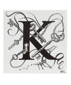 Key Chaos Letter K Tile, Rory Dobner. Shop more tiles from the Roy Dobner collection online at Liberty.co.uk.