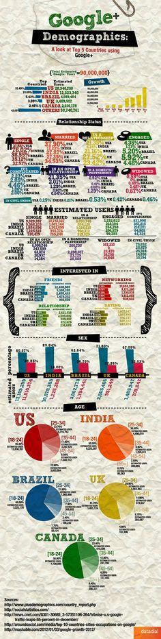 Google Plus Demographics Infographic