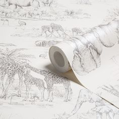 Colours Watering Hole Cream Animal Safari Metallic Wallpaper   Departments   DIY at B&Q