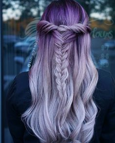 50 magical ways to style mermaid hair for every hair type .- 50 magische Weisen, Meerjungfrau-Haar für jede Haartyp zu stylen – Neue Damen Frisuren 50 magical ways to style mermaid hair for every hair type # hair type - Pastel Purple Hair, Light Purple Hair, Violet Hair, Lilac Hair, Hair Color Purple, Hair Dye Colors, Cool Hair Color, Purple Ombre, Lavender Hair
