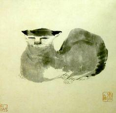 貓 八大山人 - Chinese Water Color Painting by Bada Shanren, China, (1626-1705)