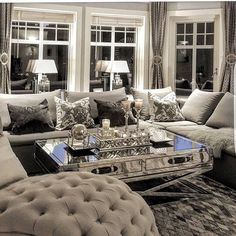 Best Small Living Room Ideas (Fresh Hacks Everyday) – Best Home Decoration Glam Living Room, Cozy Living Rooms, Living Room Interior, Home And Living, Living Room Furniture, Living Room Decor, Living Spaces, Small Living, Glam Bedroom