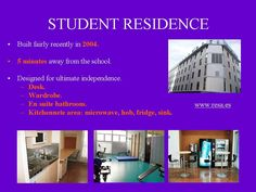 Our student residence accommodation, located just 5 minutes away from the school.