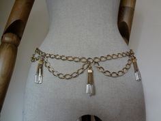 Bugle Beaded Tassle Chain Belt by BriocleurVintage on Etsy, £17.00