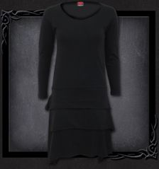 GOTHIC ROCK - Layered Skirt Dress