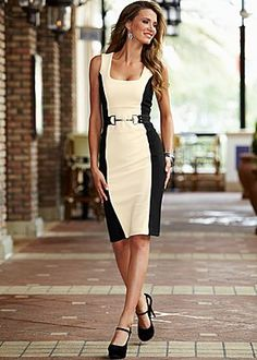 Color block sheath dress in the VENUS Line of Dresses for Women