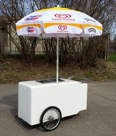 Ice Cream Push Cart / Vending Cart - Hackney Brothers VC-12-32
