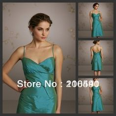 Online Shop 13244 Free shipping customer made gowns ruffle knee length kid short teal bridesmaid dress cheap 2013|Aliexpress Mobile