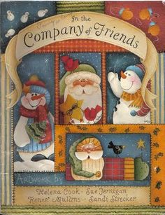 In the company of friends - Ana Pintura 3 - Picasa Web Album Christmas Books, Primitive Christmas, Christmas Crafts, Tole Decorative Paintings, Tole Painting Patterns, Paint Patterns, Arte Country, Country Crafts, Country Paintings