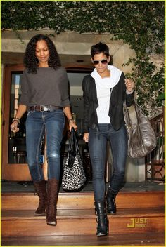 Garcelle Beauvais and Halle Berry GB's whole ensemble Fall Outfits, Casual Outfits, Cute Outfits, Fashion Outfits, Halle Berry Style, Hally Berry, Photo Star, Kingsman, Black Actresses