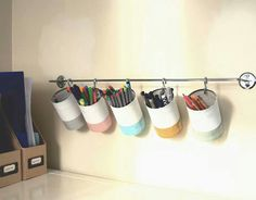 Simple storage idea with Upcycled cans