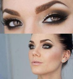 Wedding Makeup For Green Eyes And Brown Hair : Wedding hair and makeup on Pinterest Brown Smokey Eye ...