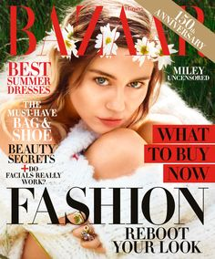 62ee7262ac55 Miley Cyrus is a Flower Child in Harper s Bazaar Cover Shoot