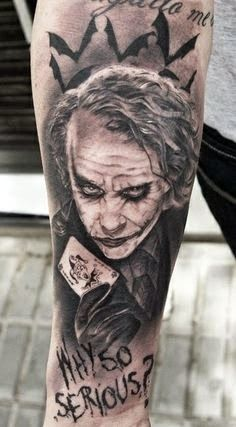 There are top 15 joker tattoo style which have been designed on arms or other part. These are most beautiful tattoo style of 2015. Joker tattoo style is in unique ideas and different colors, size and shapes. There are many choices for you to select anyone of those...