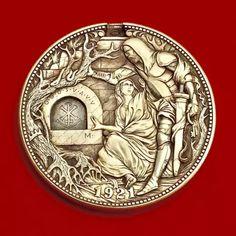 US$ 39.98 - Hand Carved Coins - m.sheinv.com Steampunk Accessoires, Jugendstil Design, Hobo Nickel, Coin Art, Desenho Tattoo, Inspiration Art, Furniture Inspiration, Cool Inventions, Cool Gadgets