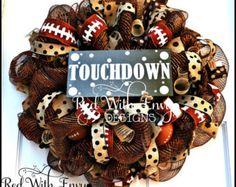 Football Wreath, Football, Football Decoration, Football Decor