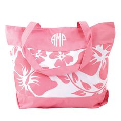 Pink Island Floral Tote