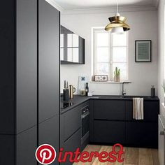 Modern black kitchen cabinets - Modern black kitchen cabinets - the equip . - Home accessories - Modern Black Kitchen Cabinets Modern Black Kitchen Cabinets Best Picture For kitchen ideas remodel - Kitchen Design Small, Small Kitchen, Kitchen Remodel, Kitchen Remodel Small, Modern Black Kitchen, Kitchen Dining Room, Home Kitchens, Small Modern Kitchens, Modern Kitchen Design