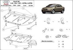 Scut motor metalic pentru Audi A 4