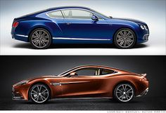 Bentley and Aston Martin unveil ultra-fast cars