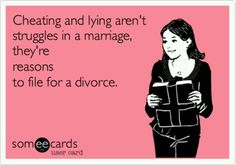 Yep--if I hear one more person defending cheaters and saying it the woman who needs to work on her marriage........