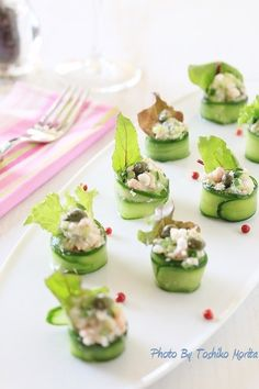 蟹と胡瓜のフィンガーフードサラダ