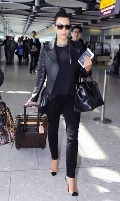 Kim Kardashian: Airport Chic