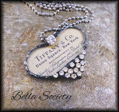 Tiffany Co heart soldered pendant by BellaSociety.