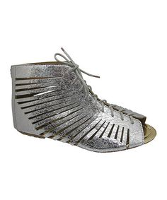 Another great find on #zulily! Silver Levy Cutout Sandal #zulilyfinds