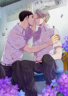 Sawamura and sugawara love /// haikyuu