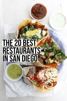 Oct 2019 - The only guide you will ever need to the best San Diego restaurants! We have included something for everyone from burgers to sushi to tacos- lots of tacos. California Restaurants, California Food, San Diego Restaurants, California Travel, Southern California, Mexican Restaurant San Diego, San Diego Nightlife, California Honeymoon, California Living