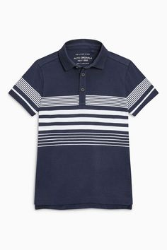 Buy Navy Chest Striped Poloshirt (3-16yrs) from Next Brazil