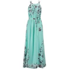 Chiffon Printed Maxi Dress