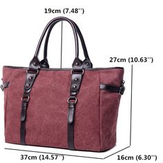 Women Capacity Canvas Tote Bags Casual Shoulder Bags Vintage Large Shopping Cros - US$47.99